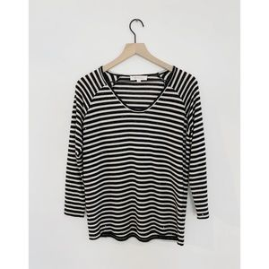 Two by Vince Camuto Sequin Stripe Long Sleeve